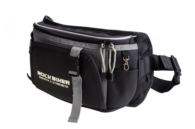 กระเป๋าคาดเอว Rock biker สีเทา
