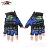 ถุงมือขี่มอเตอร์ไซค์ครึ่งนิ้ว Pro-Biker-Monster สีนำเงิน