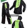 ชุดขี่มอเตอร์ไซค์ เสื้อกันฝน ยี่ห้อ PLOE สีเขียว ไซน์ L สีดำ-เขียว