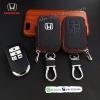 กระเป๋าซองหนัง ใส่กุญแจรีโมทรถยนต์ รุ่นมินิซิบรอบ All New Honda Accord,Civic 2016-18 Smart Key 4 ปุ่ม