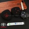 ปลอกซิลิโคน หุ้มกุญแจรีโมทรถยนต์ Toyota Altis,Hilux Vigo,Fortuner,Camry,Innova สี ดำ/แดง