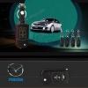ซองหนังแท้ ใส่กุญแจรีโมทรถยนต์ Mazda 2,3 พับข้าง รุ่นด้ายสี 3 ปุ่ม