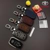 ซองหนังแท้ ใส่กุญแจรีโมท รุ่นด้ายสี Toyota Vellfire,Alphard 2015-17 Smart Key 6 ปุ่ม
