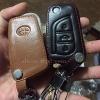 ซองหนังแท้ ใส่กุญแจรีโมทรถยนต์ Toyota Hilux Revo,New Altis 2014-17 พับข้าง 3 ปุ่ม