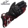 ถุงมือขี่มอเตอร์ไซค์ Alpinestar ข้อยาว GP-Pro สีแดง ดีไซน์