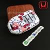 กรอบ-เคส ใส่กุญแจรีโมทรถยนต์ Honda Accord All New City Smart Key 3 ปุ่ม ลาย Kitty
