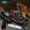 กรอบ-เคส ใส่กุญแจรีโมทรถยนต์ Foed Ranger All New Foucs รุ่น 3 ปุ่ม รุ่นเรืองแสง สีดำ/ชอบเงิน