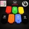 ปลอกซิลิโคน หุ้มกุญแจรีโมทรถยนต์ Honda HR-V,Jazz,CR-V,BR-V Smart Key 2 ปุ่ม