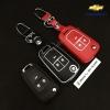 กรอบ-เคส ใส่กุญแจรีโมทรถยนต์ รุ่นเรืองแสง Chevrolet Captiva,Cruze,Colorado,Trailblazer,Sonic แบบ 3 ปุ่ม