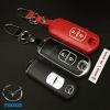 กรอบ-เคส ใส่กุญแจรีโมทรถยนต์ Mazda 2,3/CX-3,5 Smart Key 2 ปุ่ม รุ่นเรืองแสง