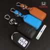 ซองหนังแท้ ใส่กุญแจรีโมทรถยนต์ Honda Accord All New City 2014-17 Smart Key 3 ปุ่ม รุ่น หนังพิเศษ