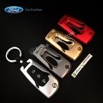 กรอบ-เคส ใส่กุญแจรีโมทรถยนต์ รุ่นไทเทเนียม All New Ford Ranger,Everest 2015-18 Key 2-3 ปุ่ม