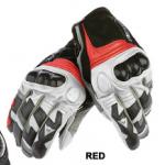 ถุงมือขี่มอเตอร์ไซค์ Dainest ข้อสั้น สีแดง