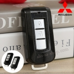 กรอบ-เคส ใส่กุญแจรีโมทรถยนต์ Mitsubishi Mirage,Attrage,Triton,Pajero ABS Smart Key 2,3 ปุ่ม สีดำเงา