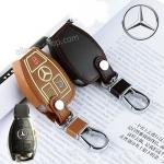 ซองหนังแท้ ใส่กุญแจรีโมทรถยนต์ รุ่นเรืองแสง ตูดตัด Mercedes Benz