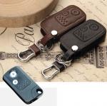 ซองหนังแท้ ใส่กุญแจรีโมทรถยนต์ รุ่นหนังนิ่ม Honda New City/New Civic/New Crv Keyless 2 ปุ่ม