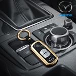 กรอบ-เคส ใส่กุญแจรีโมทรถยนต์ รุ่นกรอบเหล็ก Mazda 2,3/CX-3,5 Smart Key 2 ปุ่ม (รุ่นถอดดอกกุญแจออกได้)