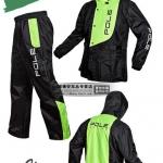 ชุดขี่มอเตอร์ไซค์ เสื้อกันฝน ยี่ห้อ PLOE สีเขียว ไซน์ XL สีดำ-เขียว
