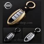 กรอบ-เคส ใส่กุญแจรีโมทรถยนต์ รุ่นกรอบเหล็ก Nissan Teana,Almera,Sylphy,Xtrail Smart Key 4 ปุ่ม