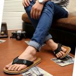 รองเท้าแตะผู้ชาย รองเท้าลำลอง K - Swisss inspired Plush 2 สี เหลืองทอง,น้ำตาล