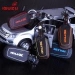 ซองหนังแท้ ใส่กุญแจรีโมทรถยนต์ รุ่นด้ายสีทรูโทน NEW!! ISUZU D-Max X-Series,MU-X Smart Key