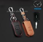 ซองหนังแท้ ใส่กุญแจรีโมทรถยนต์ Mazda 2,3 พับข้าง รุ่น 2 ปุ่ม