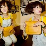 กระเป๋า สะพายไหล่ Messenger สีเหลือง
