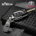 กรอบ-เคส ใส่กุญแจรีโมทรถยนต์ Toyota Hilux Revo,New Altis 2014-17 พับข้าง