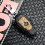 ซองหนังแท้ ใส่กุญแจรีโมทรถยนต์ รุ่นมินิซิบรอบทรูโทน Mercedes Benz 2,3 ปุ่ม