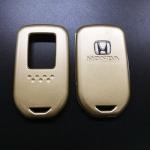 กรอบ-เคส ใส่กุญแจรีโมทรถยนต์ HondaHonda HR-V,Jazz,CR-V,Accord,City,BR-V Smart Key 2,3,4 ปุ่ม สีทอง