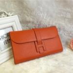 กระเป่าสตางค์ กระเป๋าคลัทช์ Hermes Clutch Togo งาน Top mirror สีส้ม