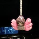 ตุ๊กตา-ปีกนางฟ้า qiqi ห้อยหน้ารถ+สร้อยมุข จากเกาหลี