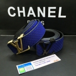 เข็มขัดหลุยส์ Louis Vuitton 2014 New Original Gold Buckle Men Belt Blue