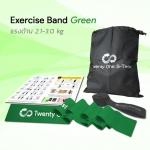 ยางยืดออกกำลังกายแบบแผ่น Exercise Band Green