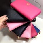 กระเป๋าสตางค์ Prada Saffiano Wallet Zippy หนังแท้ ซิบรอบ งาน Top Mirror