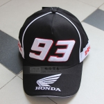 หมวกแก็ปขี่มอเตอร์ไซค์ 93 MOTOGP ดำ