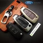 กรอบ-เคส ใส่กุญแจรีโมทรถยนต์ รุ่นโคเมี่ยม Ford Ranger All New Foucs