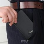 กระเป๋าหนังแท้ใส่พวงกุญแจ Cater Gootaer สี ดำ-ชมพู-ดำเงา
