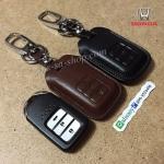ซองหนังแท้ ใส่กุญแจรีโมทรถยนต์ รุ่นหนังนิ่ม Honda Accord All New City Smart Key 3 ปุ่ม