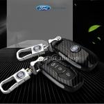 กรอบ-เคส ใส่กุญแจรีโมทรถยนต์ All New Ford Mustang Smart Key ลายเคฟล่า