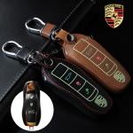 ซองหนังแท้ ใส่กุญแจรีโมทรถยนต์ รุ่นเรืองแสง Porsche แบบใหม่