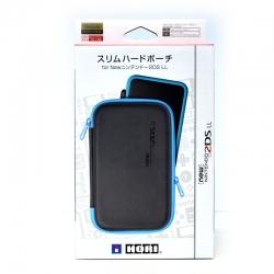 กระเป๋าสลิมฮาร์ดเปาช์ สีดำขอบน้ำเงิน สำหรับ New2DSXL , LL