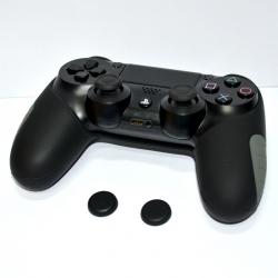 Thicker Half Skin Cover ซิลิโคนเคสแบบหนา สำหรับจอย PS4 สีดำ แถมฟรี TPU ครอบปุ่มอนาล็อก 2 ชิ้น