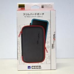 กระเป๋าสลิมฮาร์ดเปาช์ สีดำขอบแดง สำหรับ New2DSXL , LL