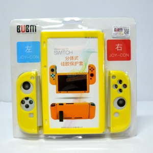 BUBM™ Soft Silicone Case Anti-slip For Switch and Joy-con Color:Yellow ราคา 490.-