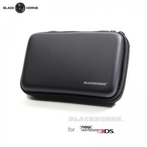 【NEW3DS】 Hard Pouch Bag กันกระแทก สีดำ ยี่ห้อ Black-Horns สำหรับ new 3DS ตัวเล็ก