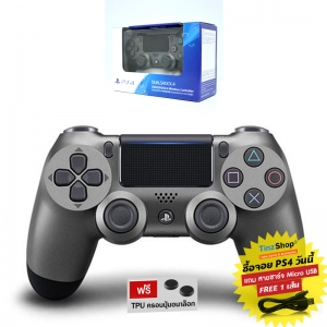 DUALSHOCK®4 Wireless Controller :: Steel Black CUH-ZCT2G 21 (สีดำเงา)
