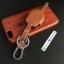 ซองหนังแท้ ใส่กุญแจรีโมทรถยนต์ รุ่นดอกกุญแจ Subaru (Sti) thumbnail 8