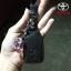 New ซองหนังแท้ ใส่กุญแจรีโมทรถยนต์ Toyota New Yaris 2014-17 แบบ Push Start โลโก้เงิน รุ่น 2 ปุ่ม thumbnail 7