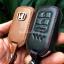 ซองหนังแท้ ใส่กุญแจรีโมทรถยนต์ รุ่นหนังนิ่มโลโก้ H-เงิน All-new Honda CR-V G5 2017-18 Smart Key 3 ปุ่ม thumbnail 8